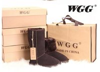 Wholesale Short Flat Boots Fur - WGG Quality Short Ankle Snow Boots Genuine Leather Winter Boots