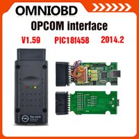 Wholesale Readers Pics - 5PC lot Top selling 2017 New Arrival opcom OP com v2014.2 auto diagostic tool for Opel op-com V1.59 with PIC chip High Quality free shipping