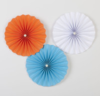 Wholesale Mini Tissue Paper - 5PCs -One Set Single Layer Mini Tissue Paper Fan Flowers Wedding Birthday Party Decoration Round Paper Daisy Fan Party Accessory