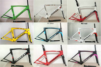 Wholesale Carbon Headset - Ridley MATTE Glossy mix Carbon Road Bike Frames 3K Wave Bicycle Frameset Fork Seatpost Headset Clamp