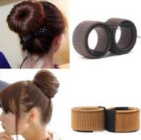 Wholesale accessories for hair bun - hair band bun maker long stick creative for Women Hair Accessories headwear holder bun bang DIY