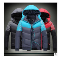 Wholesale Hoodie Promotion - Promotion ! wholesale free shipping 2017 high quality new man branded down jacket hoodies winter coat outdoor cotton winter coat plus size