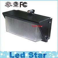 Wholesale Photocell Outdoor Lighting - 60W 80W 100W 120W Photocell Sensor Led Wall Lamps Outdoor Lights For Wall Pack Lamps Waterproof AC 85-277V UL FCC