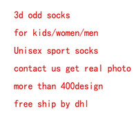 Wholesale 3d Printing Wholesale - DHL 3d socks kids women men hip hop sock 3d odd cotton skateboard socks printed Unisex socks