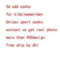 Wholesale Kids Socks Wholesale - DHL 3d socks kids women men hip hop sock 3d odd cotton skateboard socks printed Unisex socks