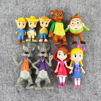 Wholesale Toy Forest - 9pcs lot Goldie & Bear Goldilocks and the Three Bears Big bad wolf Little Red Riding Hood Fairy Tale Forest Friends Figure Toy