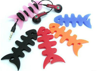 Wholesale Silicone Fishbone - OLEEDA Hot Sales Wholesale Cable Bobbin Winder Fishbone Silicone Rubber Fish Bone Earphones Headphone Cable Holder For MP3 MP4