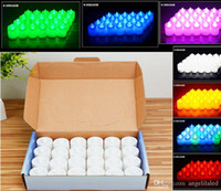 Wholesale Tealight Decor - Battery-powered Flameless LED Tealight Candles, 24PCS Per Pack Flickering Real Wax Realistic Decor Unscented Tealight Fall Decor