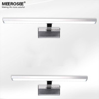 Wholesale Wall Fitting Lights - Hot selling LED White Acrylic Mirror Wall light Fitting 10watt LED Bathroom Wall lamp Chrome Modern wall lustre promote shipping