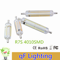 Wholesale Dimmable R7S LED Bulb W W W SMD4014 V mm mm IP65 Glass LED Lamp Bulb Degree Replace Halogen Lamp Floodlight