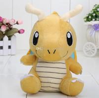 Wholesale Pokemon Big Doll - poke Pikachu plush big eyes Dragonite Banpresto Soft Plush High quality Doll 16cm New Dragonite For Kids Gift