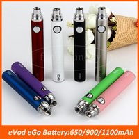 Wholesale Ecig Ce4 Tanks - Ego EVOD Battery 650mAh 900mAh 1100mAh eCig multicolor E Cig batteries for CE4 MT3 Tank Vape Pen