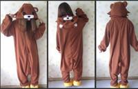 Wholesale Adult Onesie Fleece - Wholesale-Cosplay Anime Animal Cosplay Tenorikuma Bear Onesie Adult Women Men's Unisex Pajamas Halloween Carnival Costume Polar Fleece