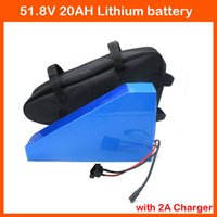 Wholesale E Bike Bicycle - 52V 20AH battery 52V 1500W Triangle Electric Bicycle battery E-Bike 52V 20AH 14S Lithium battery with bag 58.8V 2A charger