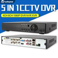 Wholesale 8ch Hybrid Dvr - 4Ch 8Ch 5 IN 1 1080P AHD DVR Hybrid XVR Support AHD CVI TVI IP Camera Onvif 3MP 5MP CCTV NVR P2P View