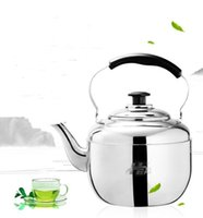 Wholesale Stainless Steel Whistling Kettle Classical Tea Pot Kettle High Quality Big Thicker Kettle Mirror Polishing L L L