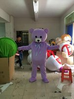 Wholesale Big Bear Costume - Professional big Purple bear mascot costume cute cartoon clothing factory customized private custom props walking dolls doll clothing