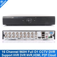 Wholesale 16ch Cctv Hybrid Dvr - 16CH 960H (AHDL) Full D1 CCTV DVR Real time Recording Hybrid NVR Video Recorder 16 Channel Recorder HDMI 1080P Output P2P Cloud