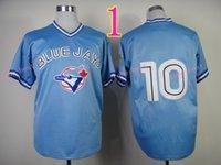Wholesale Toronto 19 - Toronto Blue Jays Jersey 13 Brett Lawrie 19 Paul Molitor 29 Joe Carter Blue Retor Shirts Stitched Throwback Baseball Jersey