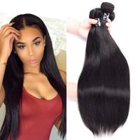 Wholesale Straight Human Hair 3pcs - 8A Grade Brazilian Virgin Hair Straight 8-26 inches 3pcs lot Unprocessed Brazilian Straight Human Hair Silky Straight Thick Bundles