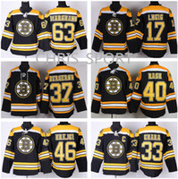 41e19717a Ice Hockey Men Full Boston Bruins premier black hockey jersey  4 Bobby Orr  37 Patrice