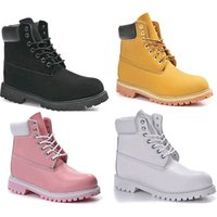 Wholesale Martin Women Leisure Boots - Winter White Snow Boots Brand Men Women Motorcycle Boots Leather Waterproof Outdoor Boots Cow Leather Hiking Shoes Leisure Ankle Boots XMAS