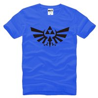 Wholesale Legends Tshirt - WISHCART The Legend of ZELDA triforce logo game Mens Men T Shirt Tshirt Fashion 2015 Short Sleeve Cotton T-shirt Tee Camisetas Hombre