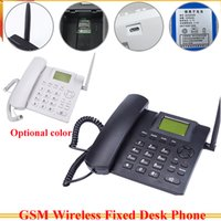 Wholesale Desktop Telephones - GSM Wireless Telephone with sim card slot 850 900 1800 1900MHz Desktop Telephone Handset Russian French Spanish Portuguese