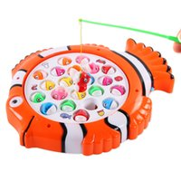 Wholesale Electric Music Rotating - Electric Rotating Magnetic Magnet Fishing Game Kid Children Educational Toy A00061 CAD