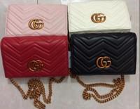 Wholesale G Covers - Double G new ladies shoulder bag Messenger bag summer handbags chain package