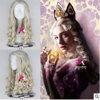 Wholesale Cosplay Wig Good Quality Sleeping Beauty Princess Aurora Wig Perucas femininas Princess Long Curly Golden Toupee