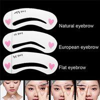 Wholesale Etude Eyebrow - Makeup Genuine Etude House Thrush Card Novice Simple Three Kinds Of Eyebrow Eyebrow Stencils Eyebrow Tools Eyebrow Card F602