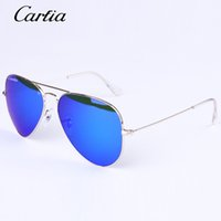 Wholesale wayfarer sunglasses blue - Carfia brand classical Sunglasses for Women Men Sunglasses Mirror sunglasses Summer Holiday Sunglasses unisex glasses 55mm 58mm 62mm