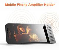 altavoces de teléfonos móviles al por mayor-2017 Universal más caliente 2 en 1 de calidad de sonido de ALTA FIDELIDAD mini altavoz Altavoz para todo el soporte del titular del amplificador del teléfono móvil