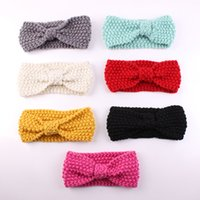Wholesale Winter Accessories For Girls - 10PCS lot Baby's Turban Ear Winter Warm Headband Crochet Knitted Hairband Headwrap Hair Band Accessories for Baby Girl Infant Kid Toddler