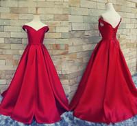 rote satin gürtel großhandel-Günstige Dark Red Prom Kleider Sexy V-Ausschnitt Lace Up Backless Gürtel 2019 Vintage Party Abendkleider Red Carpet Abendkleider