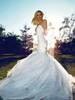 Wholesale Lace Wedding Dress Princess Cut - 2016 Spaghetti princess-cut mermaid Wedding Gown deep V-Neck exquisite tulle and cascading layered sweep train and open back gowns