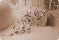 Wholesale Vintage Heart Wedding Crown - New Vintage Bridal Hairband Accessories Crysta luxurious Sparking Headpiece Jewelry Beaded Wedding Tiara Headband Headpieces Handmade Party