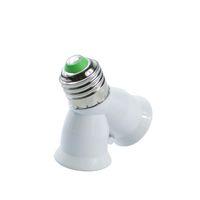 Wholesale Use Ball Lamp Light - Kitop 1pcs E27 to 2 E27 Adapter Converte 2E27 Lamp Holder Light Lamp Bulb Converter Corn Candle Ball Bulb lighting Use