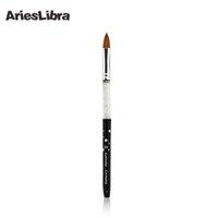 Wholesale Sable Brush Sets - Wholesale- AriesLibra 10# Black 5pcs set 100% Kolinsky Sable Brush Professional Nail Art Tool Brushes Acrylic Nail Brush for Nail Painting
