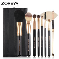 Wholesale hair bags for tools resale online - Brand Colorful Pc Pony Hair Make Up Brush Set with Super Soft Leather Bag As Essential Makeup Tools for Daily Beauty Product