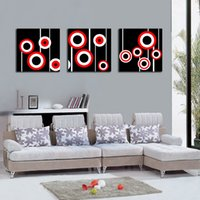 Modern Fine Abstract Circle Painting Giclée-Druck auf Leinwand Wall Art Home Decoration Set30192