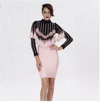 Wholesale Sexy Long Women S Coat - 2016 New Luxury Tassel Sexy Women Fashion Long Sleeve Coat