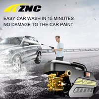 Wholesale High Pressure Cleaning Guns - Wholesale- ZNC High Pressure Cleaner Car Washer 220V 80 Bar High FLow 7LPM Self Suction Cleaning Machine High Pressure Gun