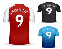 Wholesale Black Soccer Jerseys Custom - 17-18 Popular 9 Lacazette Thai Quality Soccer Jerseys,Customed 7 Alexis 29 Xhaka 24 Bellerin Training Soccer Jerseys Shirts,Custom mens wear