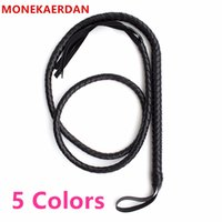 Wholesale fun toys for adult men for sale - Group buy 190 Cm Long Leather Whips Flogger Ass Spanking Bondage Slave In Adult Games For Couples Fun Fetish Sex Toys For Women And Men