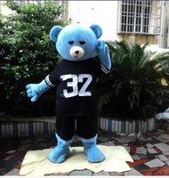 mascotes de urso adulto venda por atacado-Hot New Teddy Bear de TED Adulto Tamanho do Dia Das Bruxas Dos Desenhos Animados do Traje Da Mascote Do Vestido Extravagante