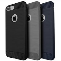 Wholesale Soft Production - For iPhone 7 High End TPU Carbon Fibre Soft Shell Case Cover for iphone 7PLUS Anti Shock 360 Full Production Case