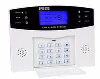 voz gsm seguridad para el hogar al por mayor-Al por mayor-DZX-AS05 Gsm Panel de sistema de alarma Inglés ruso alarma de la operación de la voz de seguridad del hogar host alarma antirrobo Gsm