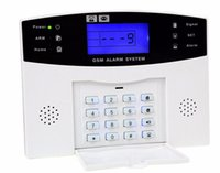 ses paneli toptan satış-Toptan Satış - DZX-AS05 Gsm Alarm Sistemi Paneli İngilizce Rusça Sesli Çalışma Alarmı Ev Sahibi Ev Güvenlik Hırsız Alarmı Gsm
